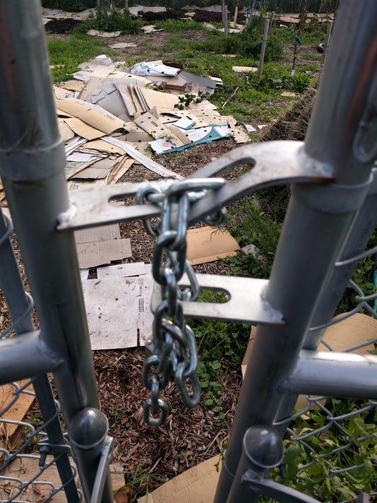Lexington Avenue urban farm vandalism