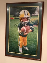 A 3-year-old Ryan Ramczyk shows his true colors in