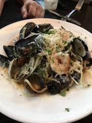 Linguine pescatore is available with specially imported