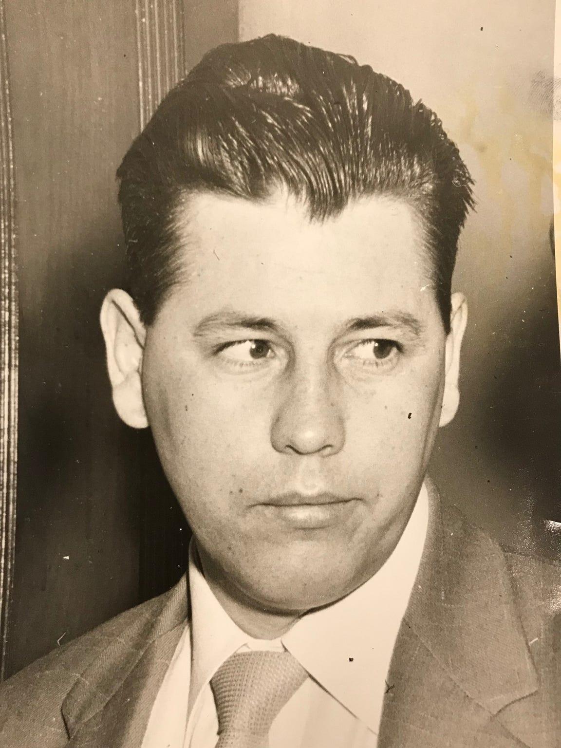 Leslie Irvin is seen in court in December of 1955.