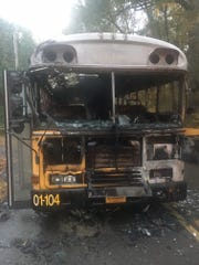This school bus caught fire during its route Thursday