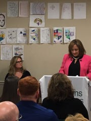 New York State Office of Alcoholism and Substance Abuse Services Commissioner Arlene González-Sánchez addressed crowd at Arms Acres new clinic in Putnam County.