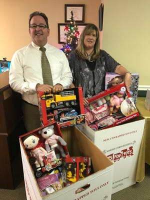 Tim McManus and Cherie DeBell filled two boxes in 2016 for Toys for Tots!  How many toys will they collect this season?