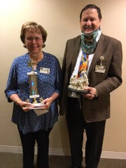 Mary Olson, administrative assistant at Felician Village, was chosen for the Service Excellence Star Award for the month of October. Pictured, from left, are Mary Olson, Service Excellence Award winner, and Frank Soltys, Felician Village president & CEO.
