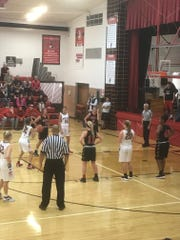 Pleasant's Erika Linder attempts a free throw Thursday