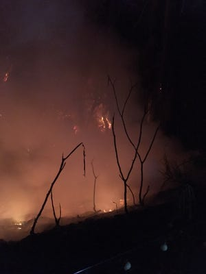 A fire that started in a Ventura barranca shortly after midnight Sunday was put out by the Ventura City Fire Department. Three homes were threatened.