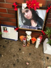 A memorial was set up outside the Dunkin' Donuts in New Rochelle in memory of Valaree Schwab, the teenager stabbed to death during an altercation on Jan. 10.