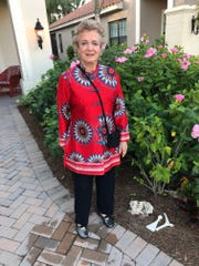 Patricia Krause, a resident of Fort Myers, works with