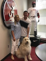 Kim and Brad Bohannon, along with their dog Murphy, are at home in Tuscaloosa as Brad begins his first season at Alabama's baseball coach. After an adoption fell through, the couple are ready to try again. [ALEX BYINGTON/THE DECATUR DAILY]