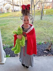 Lydia Ladd celebrated Dr. Seuss's birthday by dressing
