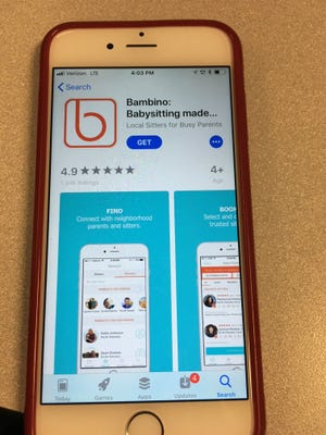 Bambino app helps connect parents and caregivers for babysitting.