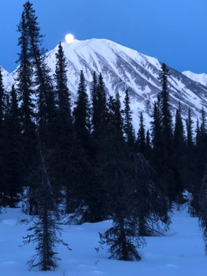 The Iditarod Trail Invitational traverses 1,000 miles from Anchorage to Nome and crosses the towering Alaska Range.
