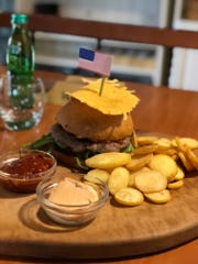 "The ""Presidential burger"" at Rondo restaurant in Sevnica."