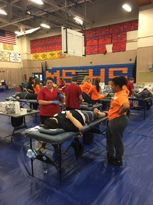 Millville High School recently did its part to ensure that blood is available when needed by hosting a blood drive.