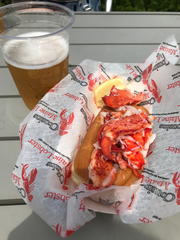 A lobster roll from Maine.