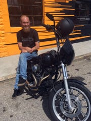 "B.J. Drury and his ""new infatuation"" – a 2000 Harley-Davidson"