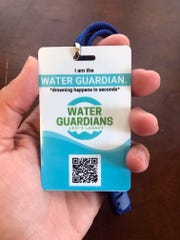 The Water Guardian tags are the size of a credit card,
