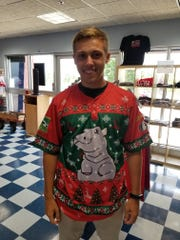 These special Christmas sweater jerseys will be worn by players at the Christmas in July game on July 25 and auctioned off to benefit the Cincinnati Zoo.