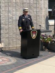 Linden Fire Chief Joseph Dooley at Last Alarm Memorial