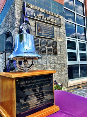 The Linden Fire Department Last Alarm Memorial at Fire Station 1.