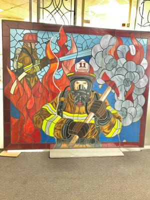 The glass mosiac was created in Lake Worth Beach for the exterior of a new fire station in Cudjoe Key.