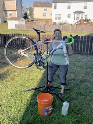 Pickerington resident Jena Cooper is washing bikes to raise money for Pelotonia this year.