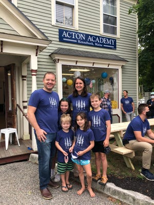 Acton Academy recently held a ribbon cutting with current students and family at the new school located at 5 Nason's Court in Kennebunk.