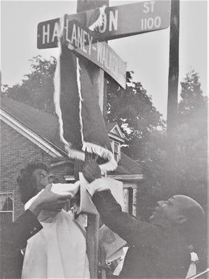 Laney-Walker Boulevard is officially dedicated in 1976.