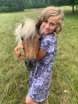 Ella Flumignan, a member of the Hearts and Hooves, exhibited in the horse department of this year's virtual Lenawee County Fair.