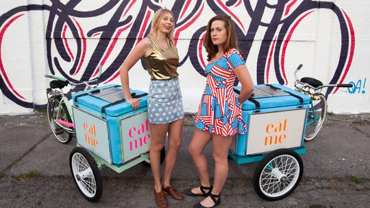 Eat Me Ice Cream wizards Catelyn Augustine (left) and