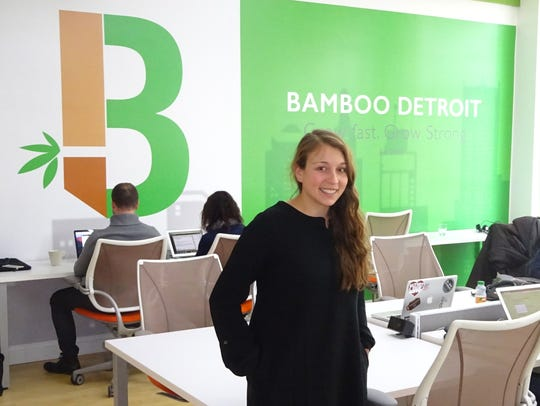 Amanda Lewan, co-founder of Bamboo Detroit, at her coworking space in downtown Detroit.