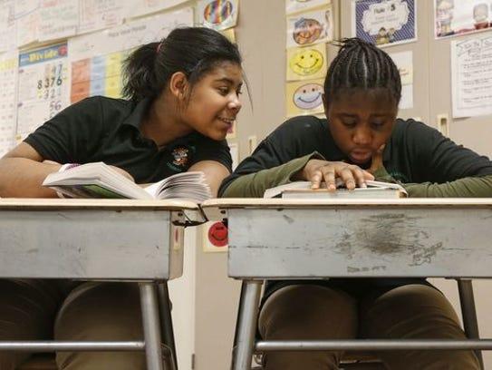 Students study at Moulton Elementary School.
