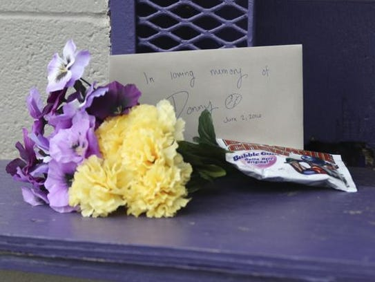A small memorial has been started at Clarksville High