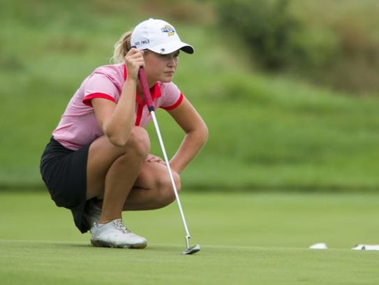 Sophie Rohleder helped Mater Dei advance to the IHSAA state tournament as a senior.