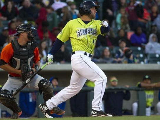 Tim Tebow, seen here playing for the Columbia Fireflies last season, will open the 2018 season with the Binghamton Rumble Ponies.
