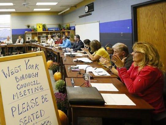 Former West York Borough Mayor Chuck Wasko was asked