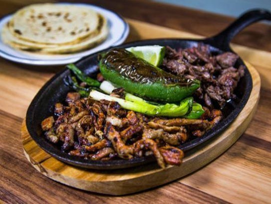 Chicken and Beef Fajitas.