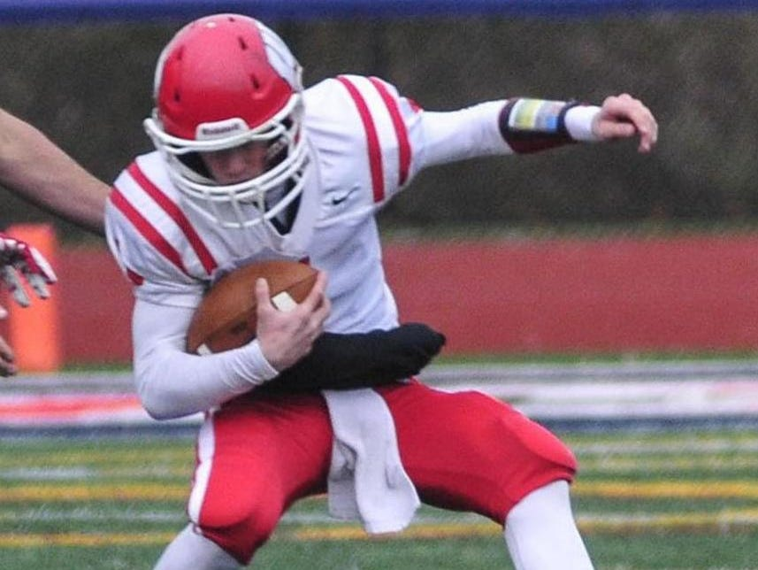 Waverly quarterback Peyton Miller carries the ball against Chenango Forks last year. Miller returns for his senior season after earning all-state honors.