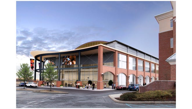 A rendering of the proposed Riverfront Arena in Wilmington.