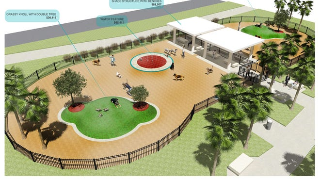 The City Council accepted two donations worth $126,000 for a dog park within Bayshore Park, which is being developed.