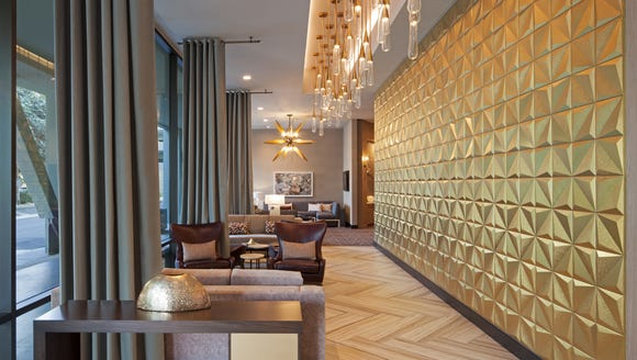 The new H Hotel at LAX has several art installations.