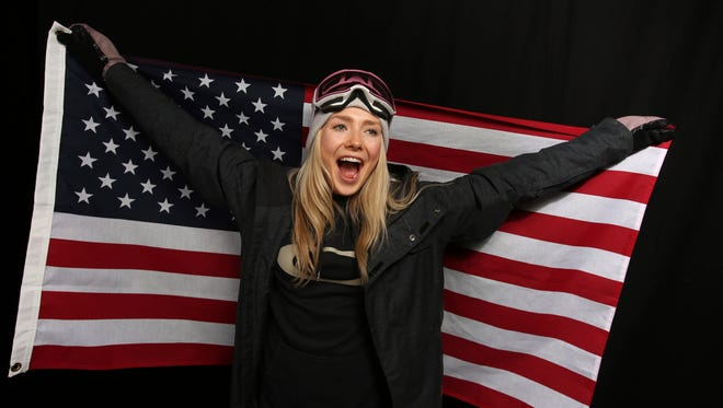Maggie Voisin poses for a portrait at the 2017 Team USA Media Summit in Park City, Utah. Voisin, of Whitefish, and Darian Stevens of Missoula as members of the U.S. Olympic freestyle ski team competing in the slopestyle event at the Pyeongchang Games.