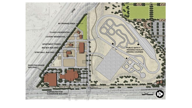 Pictured is Gilbert's proposed public-safety training facility, which voters will weigh in on Nov. 6, 2018.