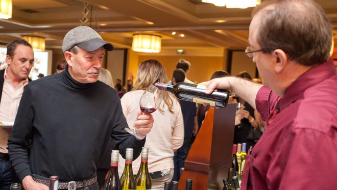 Wine is poured at the 2017 Fort Collins Wine Fest.