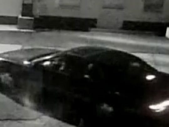 Police are searching for the man who fled a recent burglary in this vehicle.