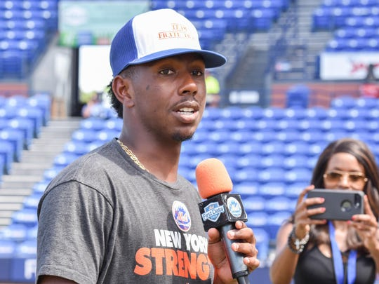 St. Lucie Mets pitcher Justin Dunn at St. Lucie Mets 2nd Annual ALS Awareness game and ice bucket challenge.