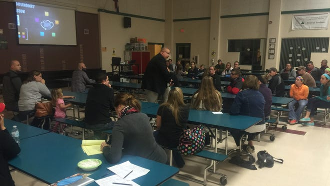 At North Elementary on Tuesday night, the Ozark school district held the first of four meetings to discuss upcoming boundary changes.