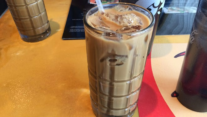 An order of Cafe Sua Da, $3.45, a Vietnamese iced coffee made with condensed milk, at Pho Zaika.