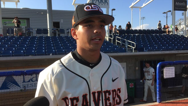 Oregon State outfielder Christian Donoahue is second on the team with a .353 average.