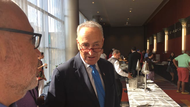 Sen. Chuck Schumer at the New York delegation breakfast at the Democratic National Convention in Philadelphia on July 26, 2016.